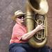 Street tuba player