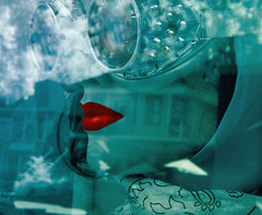 mirage (365-241) (Robert Couse-Baker) Tags: california goggles cyan lips illusion sacramento 365 pleasure weekendshowcase
