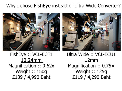 Why I chose FishEye over the Ultra Wide Converter for my Sony NEX-5