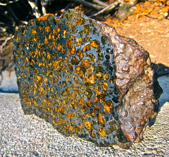 The rich history of the Brahin Pallasite (jurvetson) Tags: crystals space formation planet gems 42 mantle core solarsystem meteorite olivine proto analysis billion pallasite alderaan brahin fusioncrust ironnickel