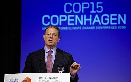 Ал Гор на конференции по климатическим изменениям в Копенгагене