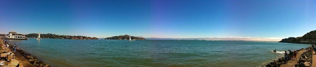 The Sunday sun shines down on San Francisco Bay