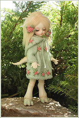 Dolly (Maram Banu) Tags: flowers green outfit md dress hood bjd soom dolomi teeniegem fairystyle marambanu