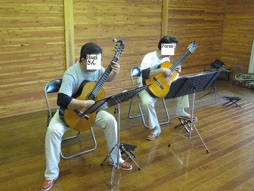 Hagiさん&Poran二重奏@ギターアンOB会 2011年8月27日 by Poran111