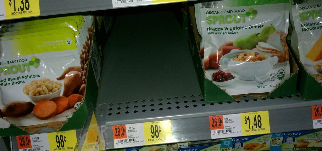 Walmart Sprouts Organic Baby Foods