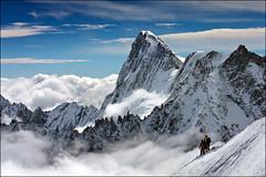 aiguille du midi (heavenuphere) Tags: snow france mountains alps sports nature sport clouds alpes landscape outdoors extreme adventure climbing alpine chamonix montblanc massif aiguilledumidi hautesavoie rhônealpes chamonixmontblanc 55250mm téléphériquedelaiguilledumidi