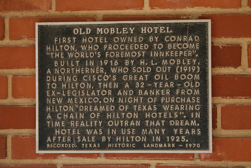 old mobley hotel plaque
