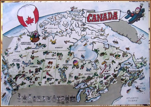 Map Card Canada
