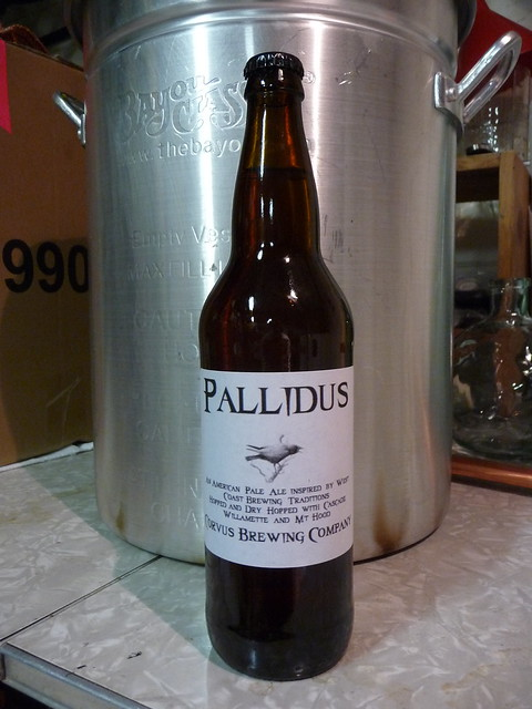 Corvus Pallidus bottled and labeled