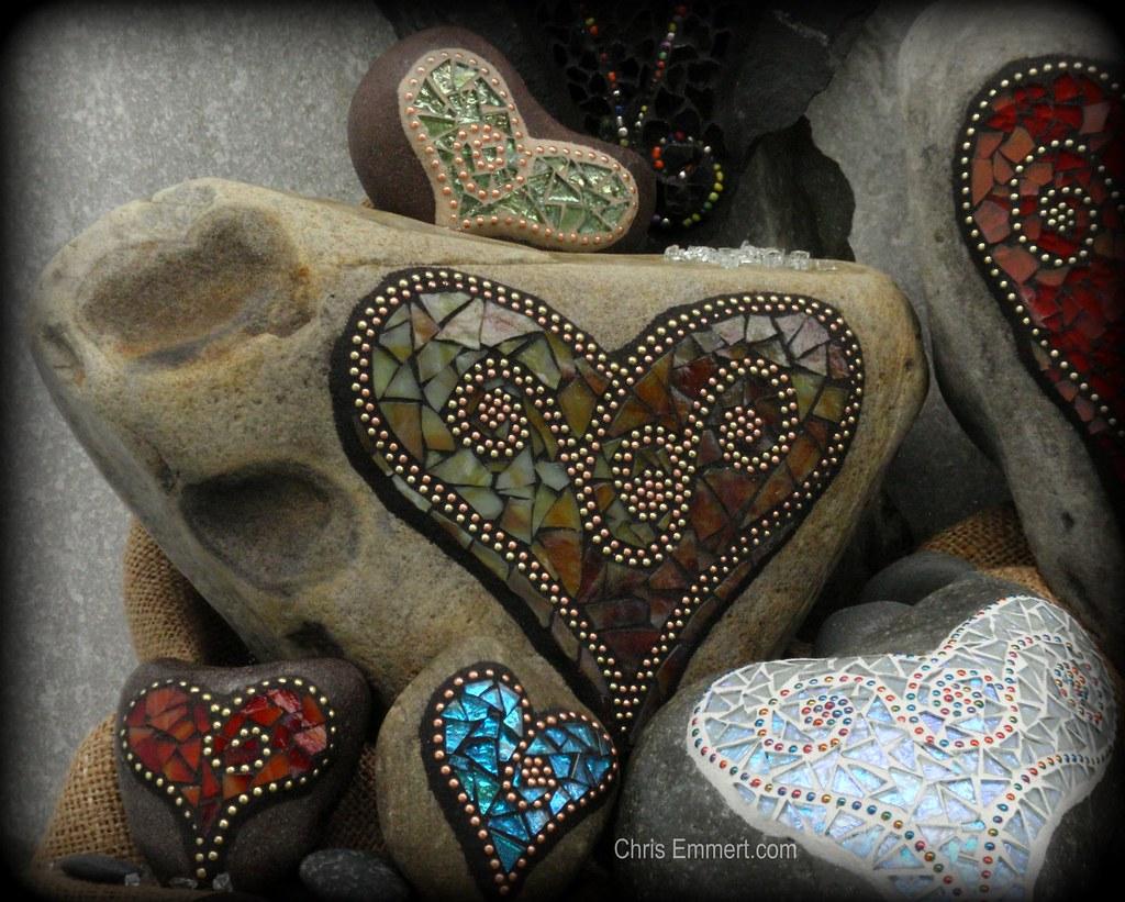 """""""Sienna"""" Mosaic Heart"""