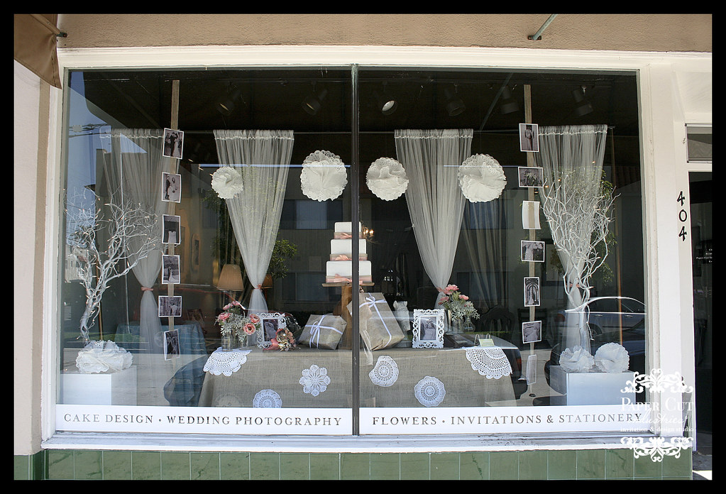 Studio 404 Weddings Window Display