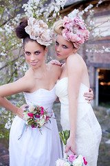 modern bridal. (evoke images) Tags: old pink flowers wedding girls sunset sunlight white cute fashion female canon vintage pose eos 50mm prime bride cool model glamour afternoon contemporary f14 models skylight sigma naturallight pale shade 5d fixed brides ribbon whites wildflowers weddingdress bridal eliza oldbuilding pinks weddingflowers bouquets modernbride markii evoke neutral hairclip primelens oldbrewery headpeice weddingfashion sigma50mmf14 canoneos5dmarkii mathewsacco evokeimages