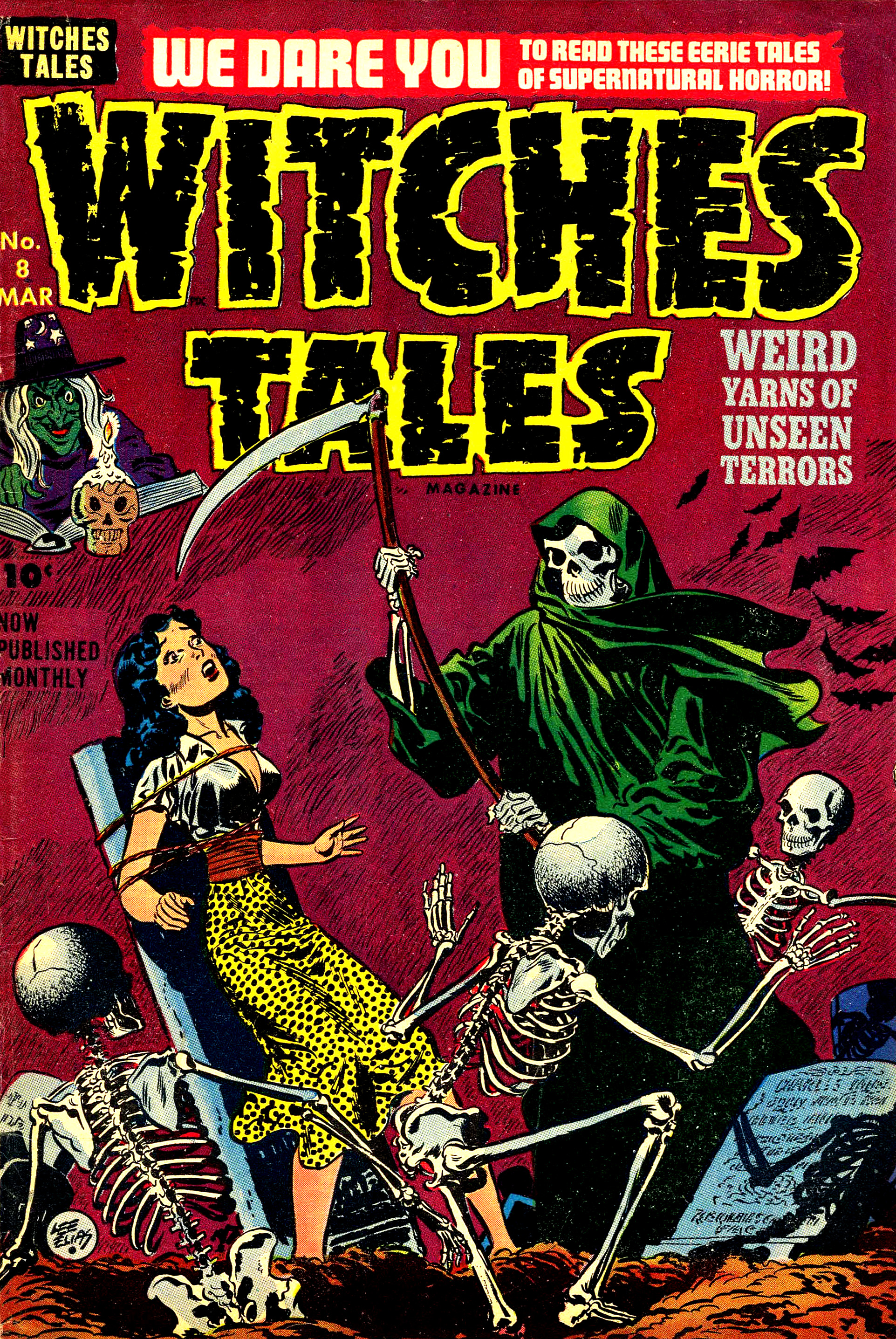 Witches Tales #8, Lee Elias Cover (Harvey, 1952)
