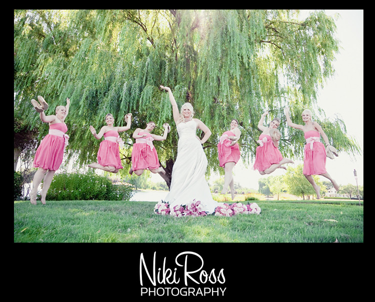 bridesmaidsjumping-sassybride