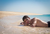 P o R t r A i t (Abdullah Alshaiji) Tags: blue sea portrait sky canon island sand abdullah 24105l 60d alshayji