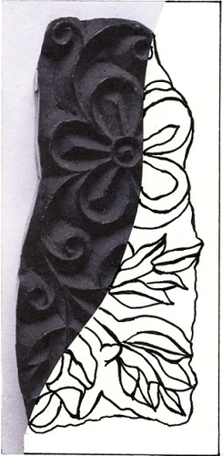 Woodblock stamp from India