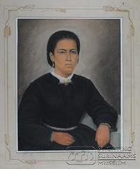 Petronella Alvares (Stichting Surinaams Museum) Tags: portret suriname paramaribo houtskool getekend ringeling petronellaalvares