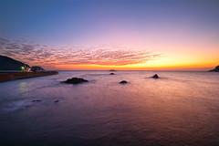 Finest color at dusk (-TommyTsutsui- [nextBlessing]) Tags: longexposure light sunset red sea seascape nature yellow japan port landscape nikon ship purple dusk tide scenic shore    islet hdr izu   matsuzaki  sigma1020  onsalegettyimages