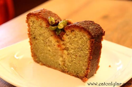Pistachio cake, Waterloo Gardens Teahouse