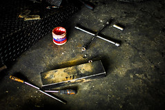 Another mechanic's day of work (www.paolojose.com) Tags: shop nikon paint cross d2x tools nikkor wrench 3570mm f28d