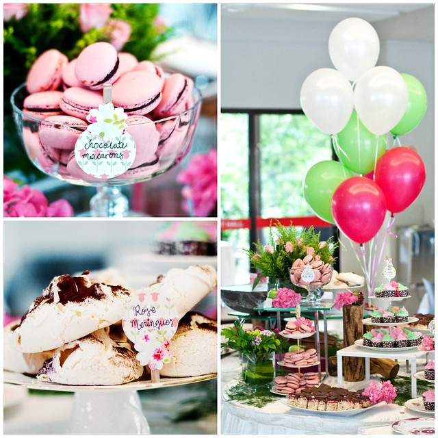 Macarons At J's wedding collage