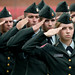 Members of the NC State ROTC stand at attention Sunday during the Sept. 11th memorial at the Belltower.