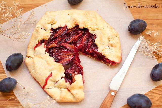 деревенский сливовый пирог 1