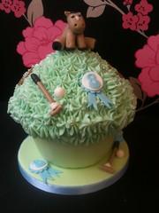 Giant Cupcake - Junior Polo (Crumbs & Corkscrews) Tags: birthday blue horse green cake strawberry helmet 8 cotswolds celebration pony vanilla mallet polo giantcupcake rossette cirencestercupcakes