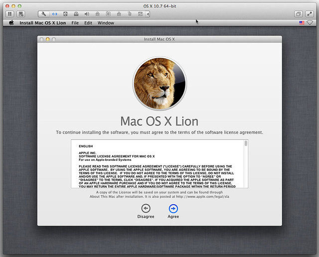 Lion Installer in VMware