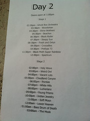 Day 2 Line Up