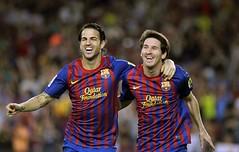 El centrocampista del FC Barcelona, Cesc Fàbre...