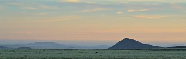 Distant landscape and pastel sky, Springbok