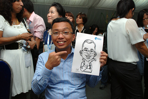 caricature live sketching for Singapore International Water Week Closing Dinner - 23