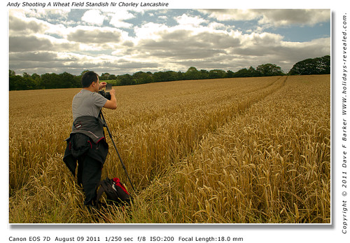 Andy Shooting A Wheat Field Standish Nr Chorley Lancashire