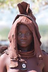 Headgear of the Himba Bride (smokejumping) Tags: africa portrait people girl beautiful hat nikon village gente african culture tribal falls safari southern afrika language tribe ochre ethnic region namibia ritratto tribo ragazza nuptial himba afrique namibian ethnology epupa headgear tribu cascate namibie regione 2011 kaokoland ocra kunene trib tribale tribus d80 ethnie himbatribe copricapo seminomadic otjize sergiocanobbio otjihimba