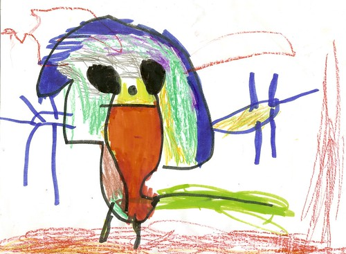 """""""Doggy"""" Asher's Art, 4.5 Years Old"""