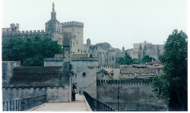 On the bridge in Avignon, France, not far from where you can buy a beautiful Provençal shawl.