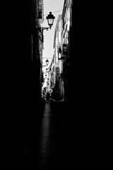 Strada [on EXPLORE] (Natalia Romay Photography) Tags: sardegna street city travel shadow cidade summer bw italy lamp canon calle strada italia sardinia ciudad bn viajes trips farol sombras cerdea alghero nataliaromay