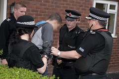 Operation Valant Arrest (Greater Manchester Police) Tags: uk england manchester police arrest suspect handcuffed britishpolice greatermanchester ukpolice greatermanchesterpolice policeoperation unitedkingdompolice manchesterdisorder operationvalant assistantchiefconstablegarryshewan