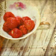Strawberry Tea Party (akaadventurephotos) Tags: stilllife ie motat tatot dragondaggerphoto artistictreasurechest magicunicornverybest magicunicornmasterpiece sbfmasterpiece stilllifephotoart sbfgrandmaster