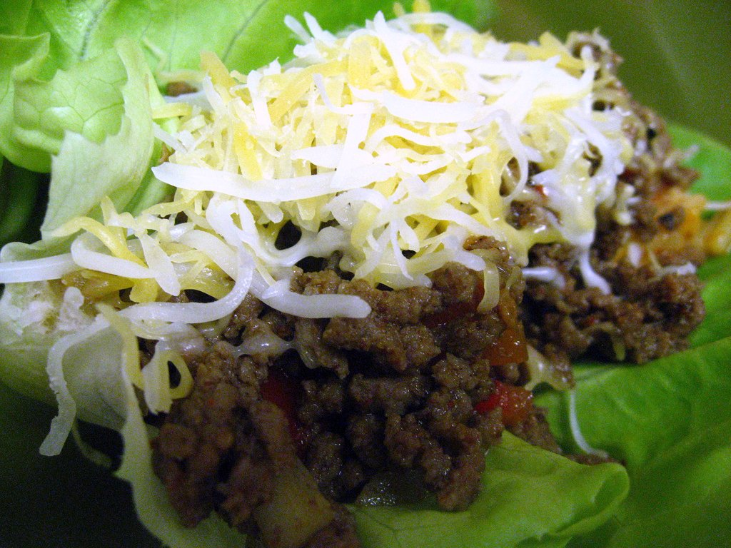 lettuce wrap taco with homemade seasoning