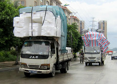 Chinese Convoy (cowyeow) Tags: china strange danger truck work asian weird dangerous funny asia traffic dumb transport chinese wrong lorry cardboard pile guangdong transportation stupid vehicle wtf recycling carry trucking overload overkill shantou irresponsible chenghai funnychina