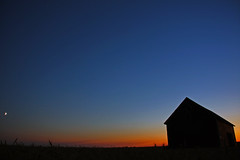 Sask-Barn-Sunset-Panorama (Eye In The Sky Photography) Tags: sunset canada silhouette barn wheat silhouettes crop remote grains saskatchewan agriculture desolate prarie praries
