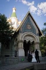 Bulgarian Wedding (Orin Zebest) Tags: wedding church honeymoon sofia spires steps bulgaria russianchurch 1770mm  stnicolaichurch bulgarianorthodoxchurch  churchstnicolai