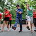 College of Education students and faculty take part in their 'beach bash' line dance.