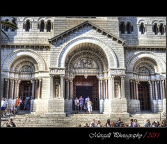 The Cathedral of Monaco - HDR (Margall photography) Tags: people france photography cathedral entrance montecarlo monaco marco cote hdr azur galletto margall
