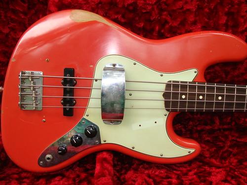 1964 Fender Jazz Bass Fiesta Red