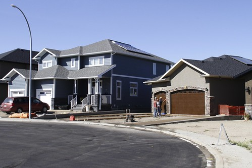 Solar PV and solar thermal on this EnerGuide 89 home in Medicine Hat.