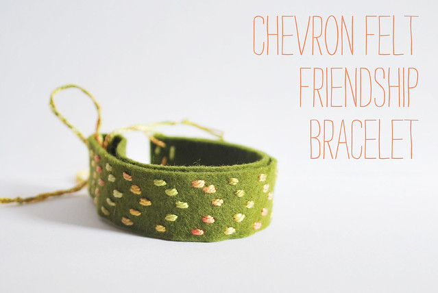 Chevron Felt Friendship Bracelet
