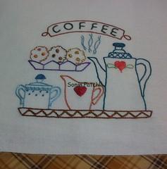 Hummmm...que vontade de tomar um cafézinho !!! (soniapatch) Tags: embroidery bordado panodeprato